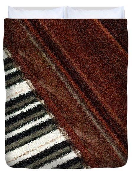 Piano Keys Duvet Cover by Carolyn Marshall
