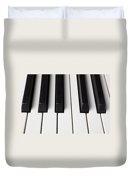 Piano Keys Close Up Duvet Cover by Garry Gay