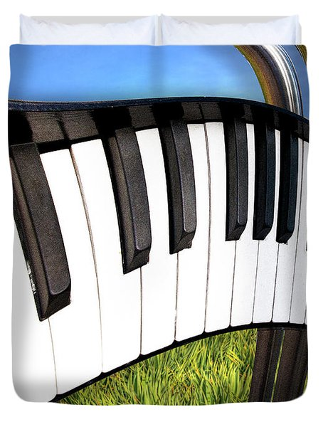 Duvet Cover featuring the photograph Piano Land by Paul Wear
