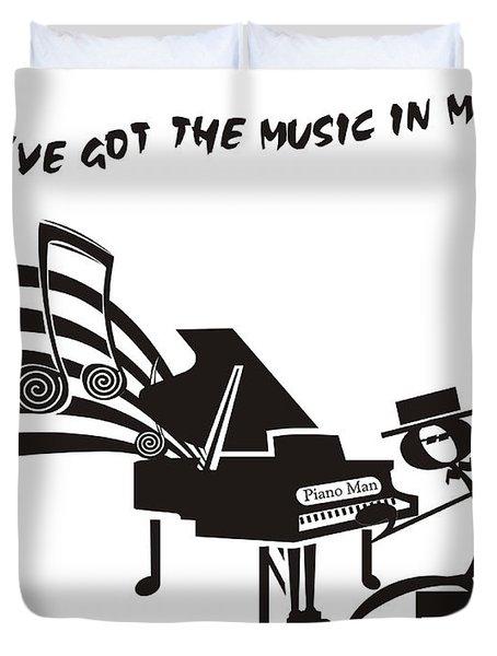 Piano Man Duvet Cover by Maria Watt