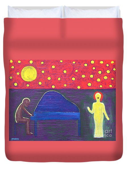 Piano Player And Singer Duvet Cover by Patrick J Murphy