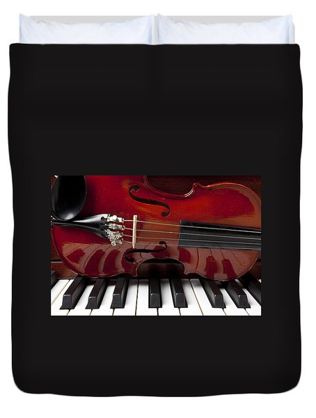 Piano Reflections Duvet Cover by Garry Gay