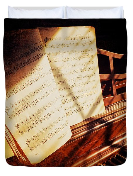 Piano Sheet Music Duvet Cover