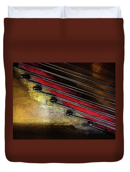 Piano Wire II Duvet Cover by Jae Mishra