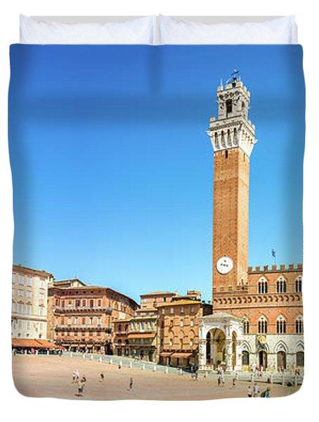 Piazza Del Campo In Siena Duvet Cover