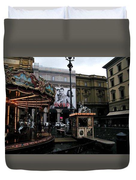 Piazza Della Republica Duvet Cover by Melinda Dare Benfield