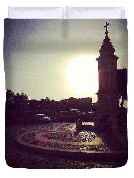 #piazza #square #twilight Duvet Cover