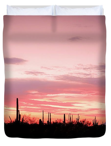 Picacho Sunset Duvet Cover