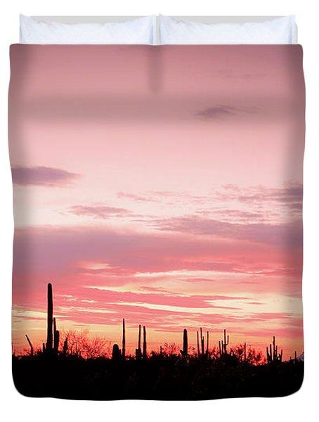 Picacho Sunset Duvet Cover