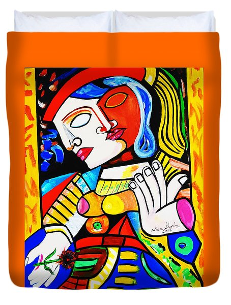 Picasso By Nora Turkish Man Duvet Cover by Nora Shepley