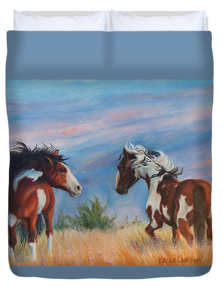 Picasso Challenge Duvet Cover by Karen Kennedy Chatham