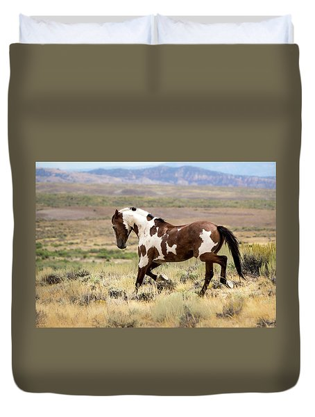Picasso Strutting His Stuff Duvet Cover by Nadja Rider