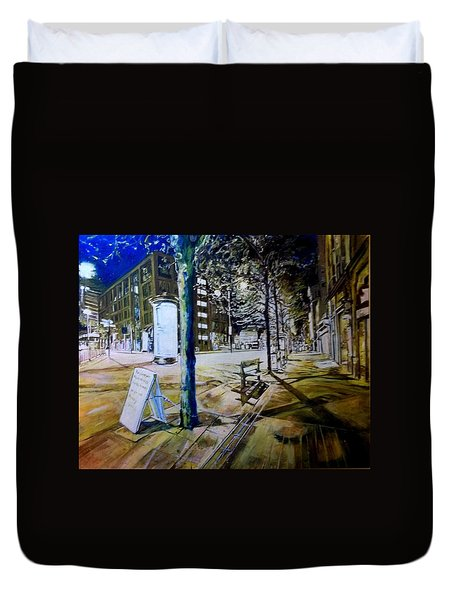 Piccadilly Gardens, Manchester Duvet Cover