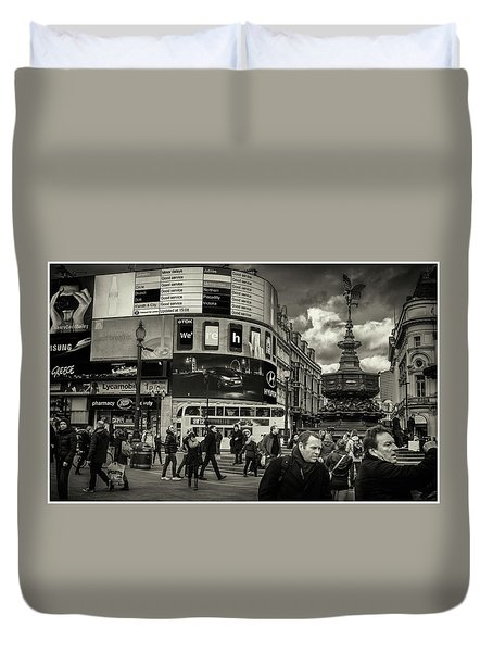 Duvet Cover featuring the photograph Piccadilly  by Stewart Marsden