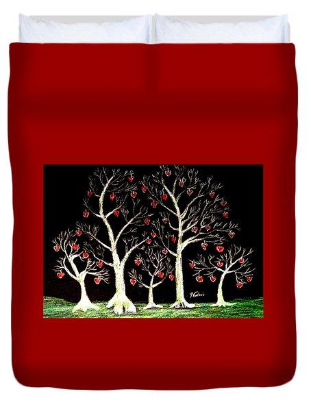 The Valentine Forest Duvet Cover