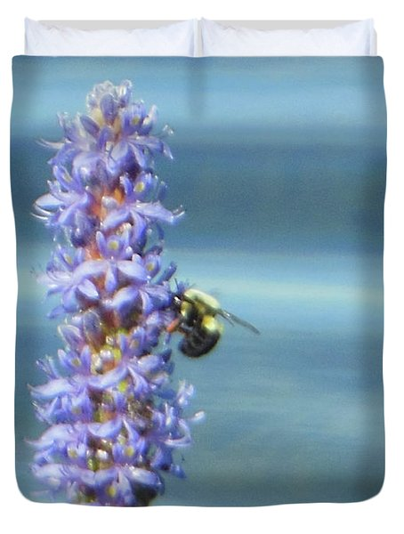Pickerelweed Bumble Bee Duvet Cover