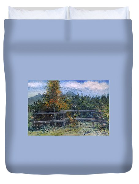 Picket Fence Near Heidelberg Western Cape South Africa Duvet Cover by Enver Larney