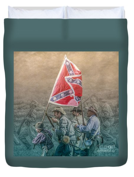 Pickett's Charge At Gettysburg Duvet Cover by Randy Steele