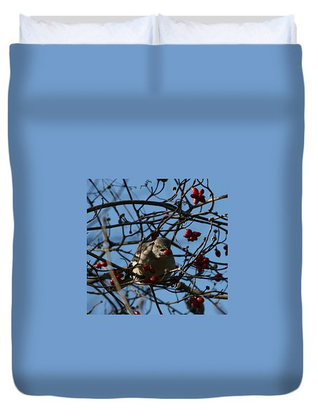 Duvet Cover featuring the photograph Picking Berries by Cathy Harper