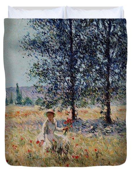 Picking Flowers  Duvet Cover