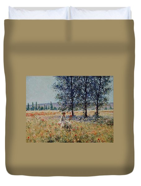 Picking Flowers  Duvet Cover