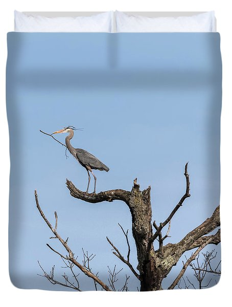 Picking Sticks Duvet Cover by Thomas Young