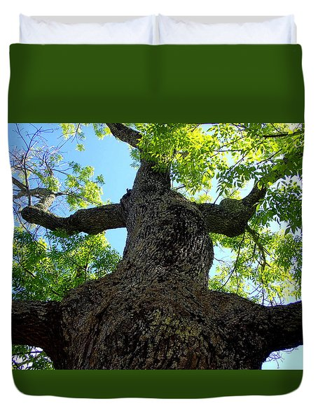 Pickity Tree Duvet Cover by Lois Lepisto