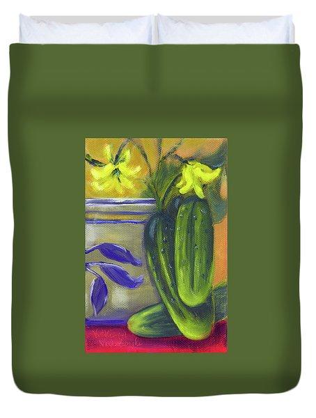 Pickling Cucumbers  Duvet Cover
