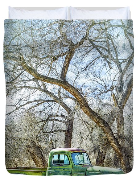 Pickup Under A Tree Duvet Cover
