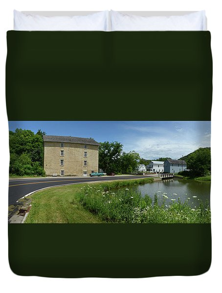 Pickwick Mill Panorama Duvet Cover by Janice Adomeit