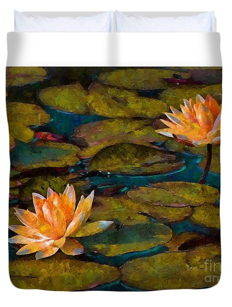 Picnic By The Pond Duvet Cover