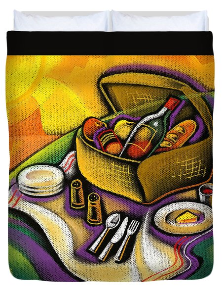 Picnic Duvet Cover by Leon Zernitsky