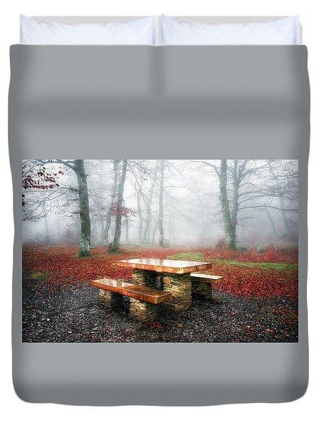 Picnic Of Fog Duvet Cover