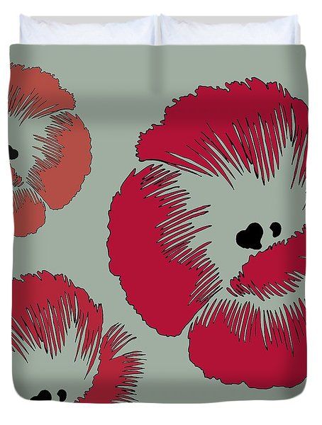 Picnic Poppy Duvet Cover