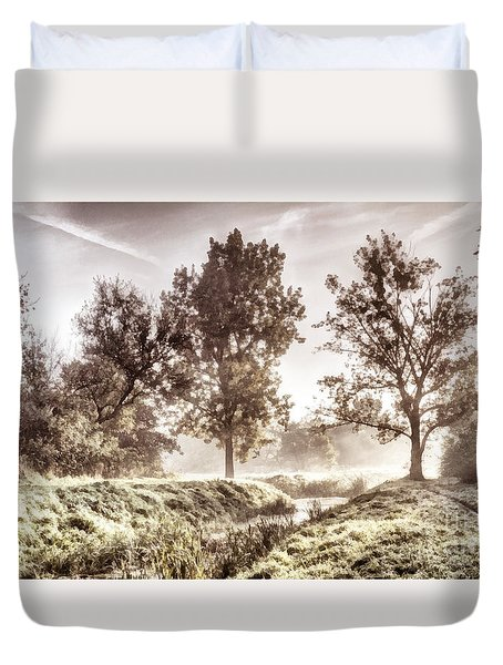 Pictorial Autumn Landscape Artistic Picture Duvet Cover