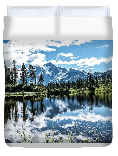 Picture Lake Duvet Cover