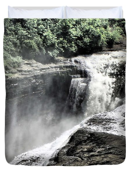 Picture Of Waterfalls At Letchworth Duvet Cover