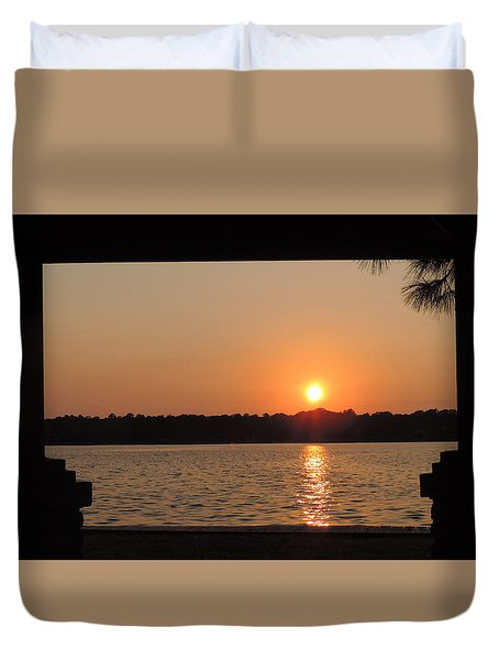 Picture Perfect Sunset Duvet Cover by Teresa Schomig