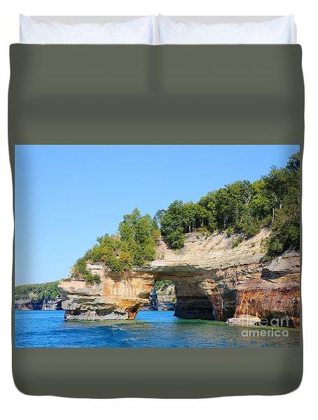 Picture Rocks Duvet Cover