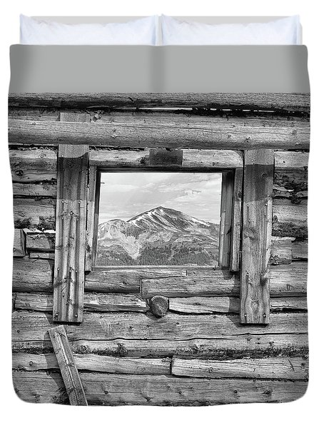 Duvet Cover featuring the photograph Picture Window #2 by Eric Glaser