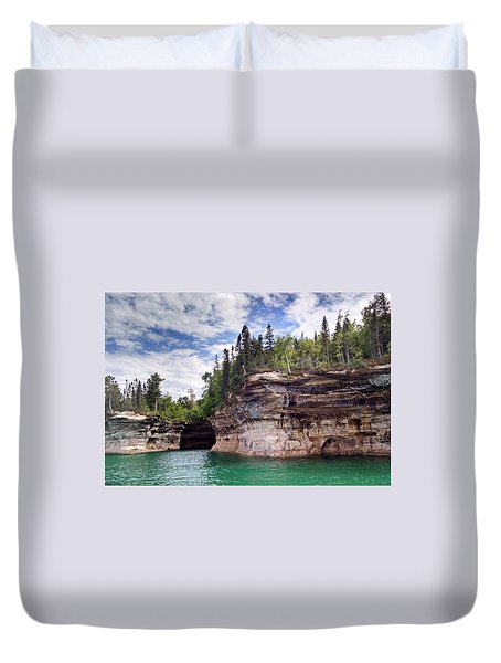 Pictured Rocks Duvet Cover
