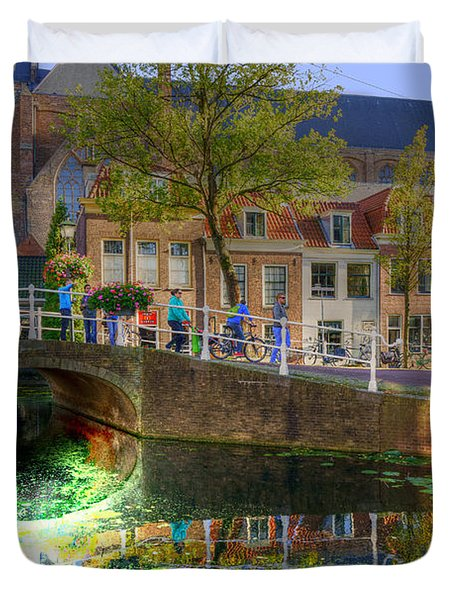 Picturesque Delft Duvet Cover