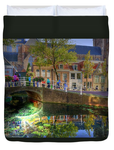 Picturesque Delft Duvet Cover