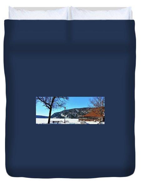 Picturesque Devil's Lake Duvet Cover by Ricky L Jones