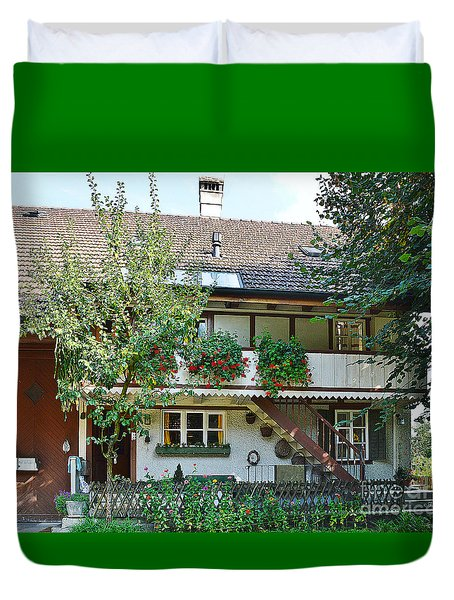 Picturesque House Duvet Cover by Felicia Tica