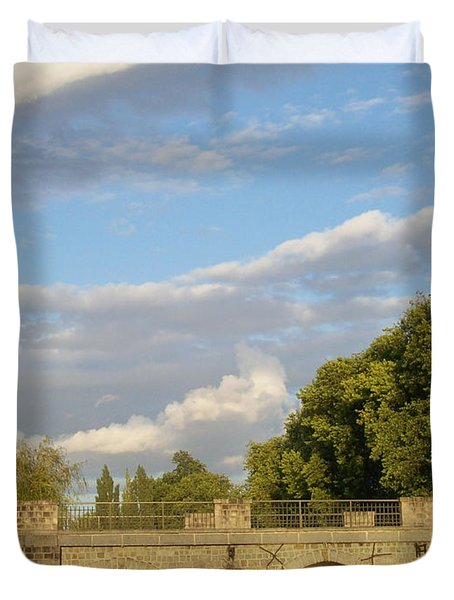 Duvet Cover featuring the photograph Picturesque by Mary Mikawoz