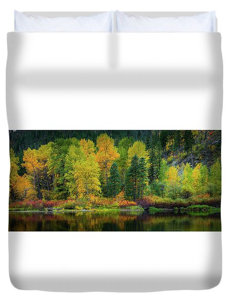 Duvet Cover featuring the photograph Picturesque Tumwater Canyon by Dan Mihai