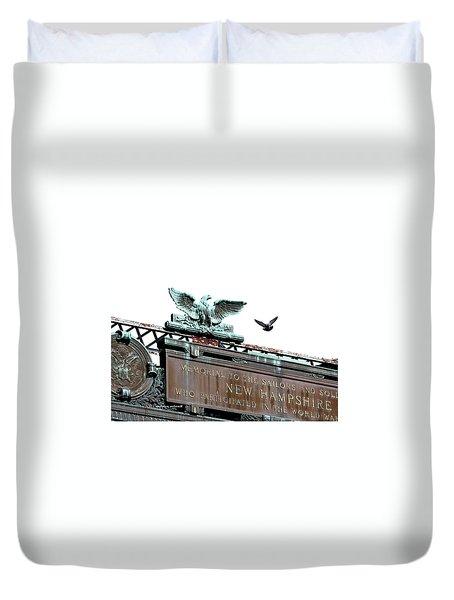 Pidgeon Intrusion Duvet Cover