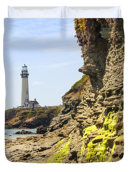 Pidgeon Point Lighthouse Duvet Cover