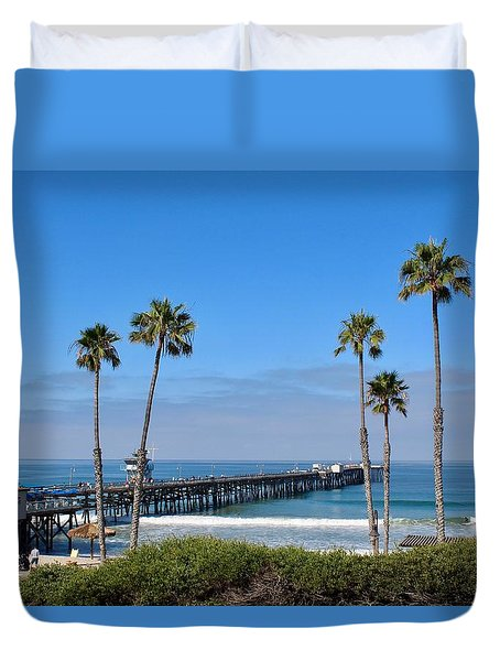 Pier And Palms Duvet Cover